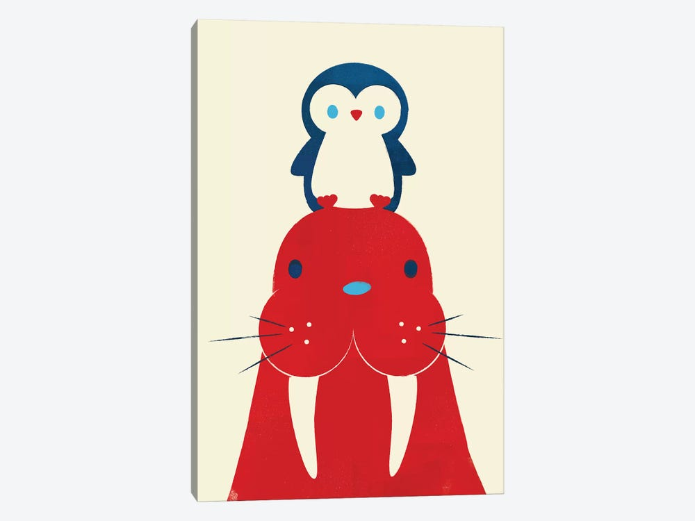 Penguin And Walrus by Jay Fleck 1-piece Canvas Art Print