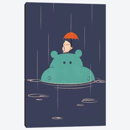 Raindrops Canvas Print #JFL87} by Jay Fleck Canvas Art Print