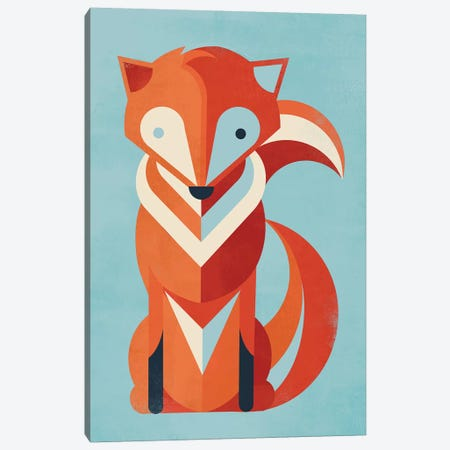 Fox Canvas Print #JFL8} by Jay Fleck Canvas Print