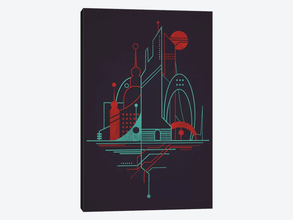 Subway Sky Night by Jay Fleck 1-piece Canvas Artwork
