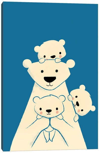 Papa Bear Canvas Art Print