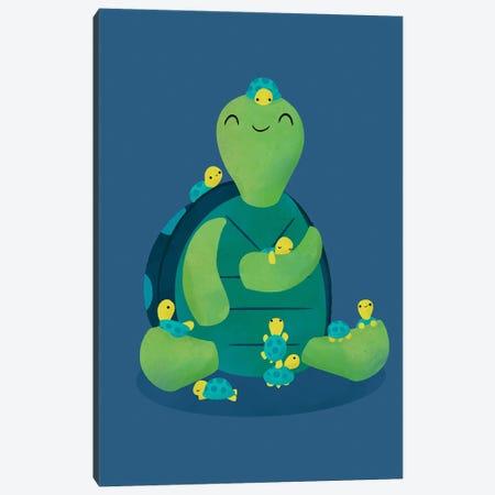 Turtle Mama Canvas Print #JFL96} by Jay Fleck Canvas Art