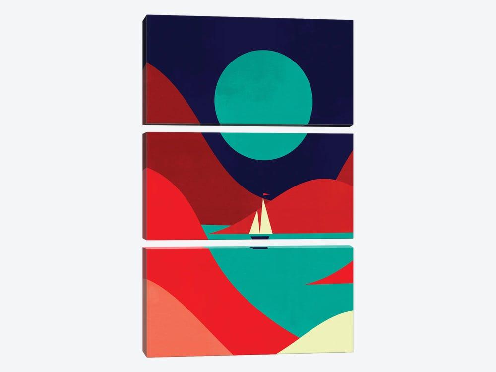 Inlet by Jay Fleck 3-piece Canvas Art Print