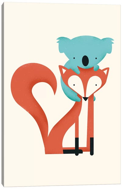 Fox & Koala Canvas Art Print