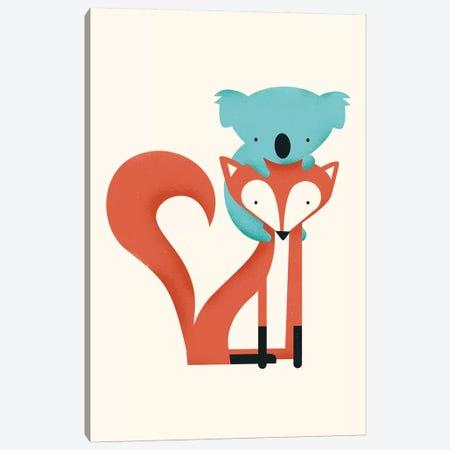 Fox & Koala Canvas Print #JFL9} by Jay Fleck Canvas Print