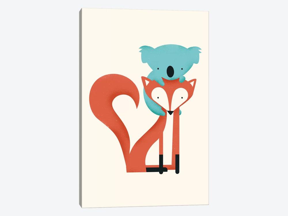Fox & Koala by Jay Fleck 1-piece Canvas Print