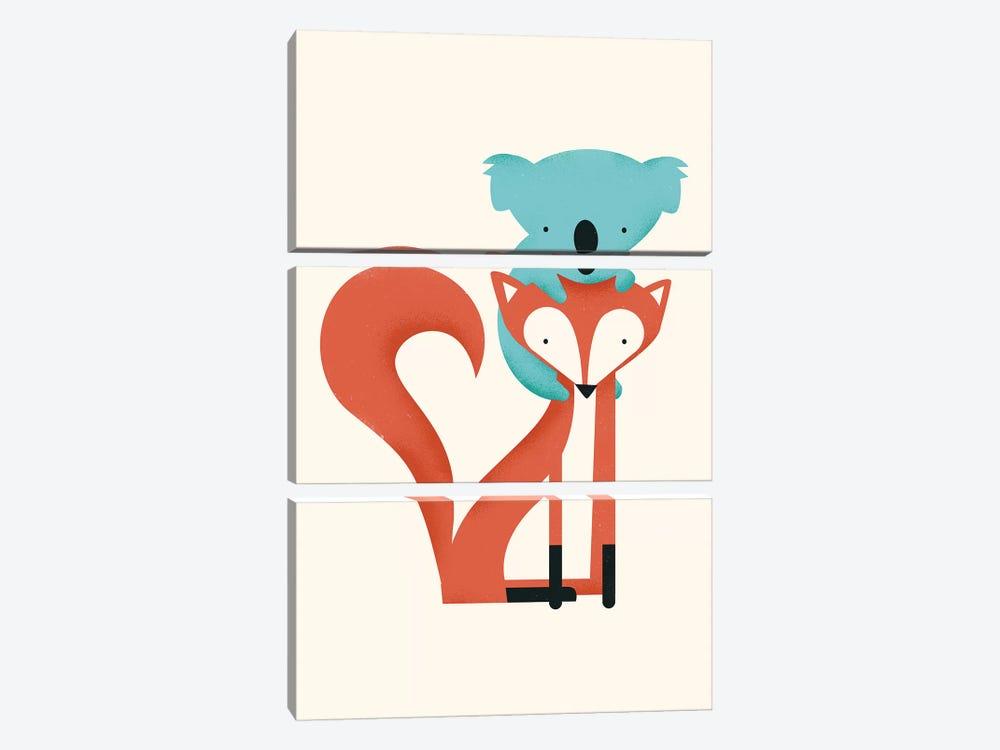 Fox & Koala by Jay Fleck 3-piece Canvas Print