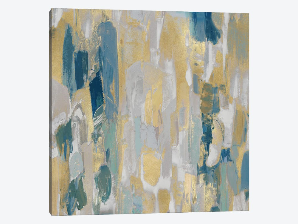 Reveal Teal II by Jennifer Martin 1-piece Canvas Art Print