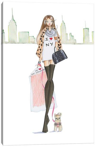 New Yorkie Canvas Art Print