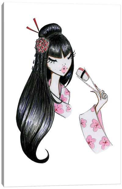 Sushi Girl Canvas Art Print