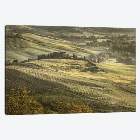 Europe, Italy, Tuscany, Val D'Orcia Canvas Print #JFO10} by John Ford Canvas Wall Art