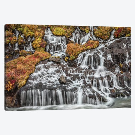 Iceland, Bjarnafoss Canvas Print #JFO11} by John Ford Canvas Wall Art
