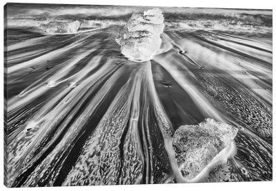 Iceland, Diamond Beach Canvas Art Print