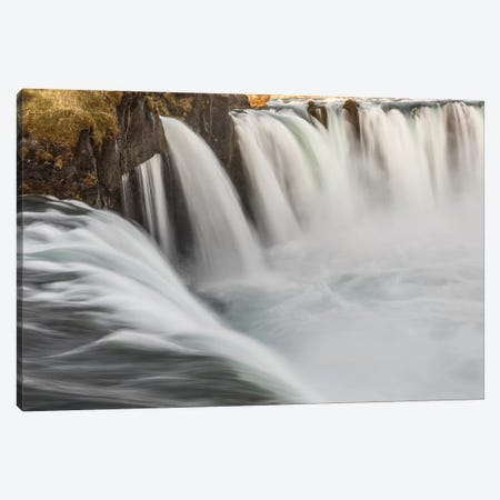 Iceland, Godafoss Canvas Print #JFO13} by John Ford Canvas Wall Art