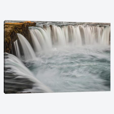 Iceland, Godafoss Canvas Print #JFO14} by John Ford Art Print