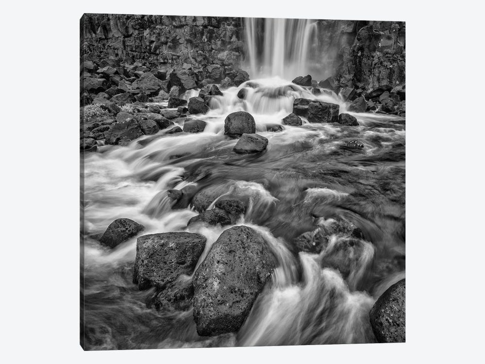 Iceland, Golden Circle, Oxarafoss by John Ford 1-piece Canvas Print