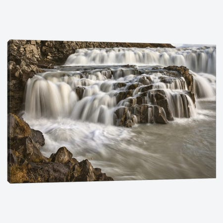 Iceland, Gullfoss, Golden Circle Canvas Print #JFO18} by John Ford Canvas Artwork