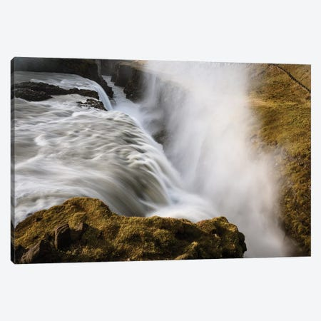 Iceland, Gullfoss, Golden Circle Canvas Print #JFO19} by John Ford Canvas Artwork