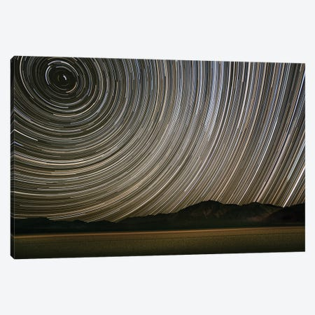 Long Exposure Star Trails Over Racetrack Playa, Death Valley National Park, Inyo County, California, USA 3-Piece Canvas #JFO1} by John Ford Canvas Art