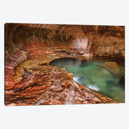 The Subway (Left Fork Of North Creek), Zion National Park, Utah, USA Canvas Print #JFO2} by John Ford Canvas Wall Art