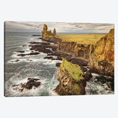 Iceland, Snaefellsnes Peninsula, Londrangar Cliffs Canvas Print #JFO33} by John Ford Canvas Wall Art