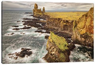 Iceland, Snaefellsnes Peninsula, Londrangar Cliffs Canvas Art Print
