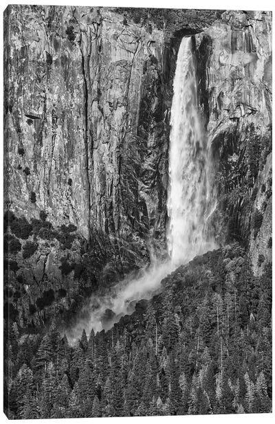 Usa, California, Yosemite, Bridal Veil Falls Canvas Art Print
