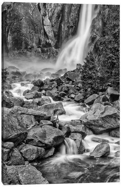 Usa, California, Yosemite, Bridlevale Falls Canvas Art Print