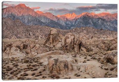 Usa, Eastern Sierra, Alabama Hills Canvas Art Print