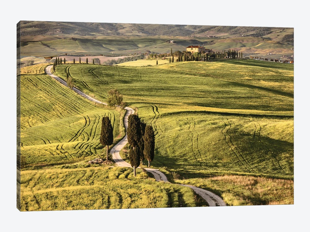 Europe, Italy, Tuscany, Val D'Orcia by John Ford 1-piece Art Print