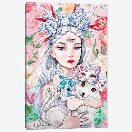 Arctic Fox Canvas Print #JFP2} by Julie Filipenko Canvas Artwork