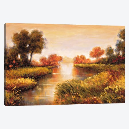 Pond At Daybreak Canvas Print #JFR13} by Jeffrey Leonard Canvas Art Print
