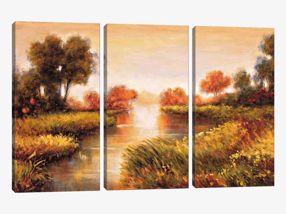 Pond At Daybreak by Jeffrey Leonard 3-piece Art Print