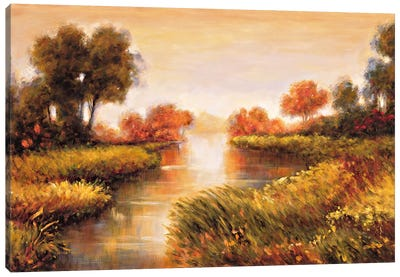 Pond At Daybreak Canvas Art Print