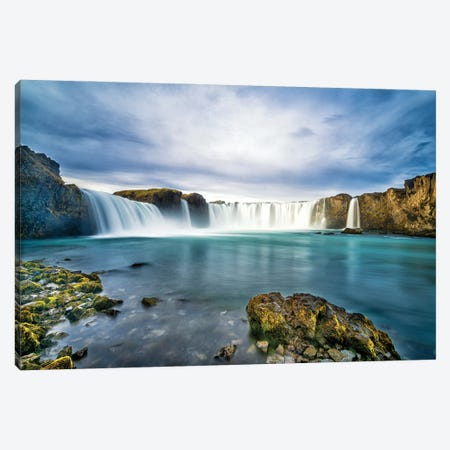 Godafoss Canvas Print #JFS23} by Jeffrey C. Sink Canvas Art Print