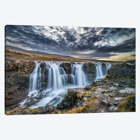 Unknown Falls In Iceland Canvas Print #JFS26} by Jeffrey C. Sink Canvas Wall Art