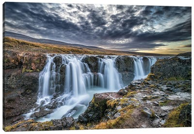 Unknown Falls In Iceland Canvas Art Print