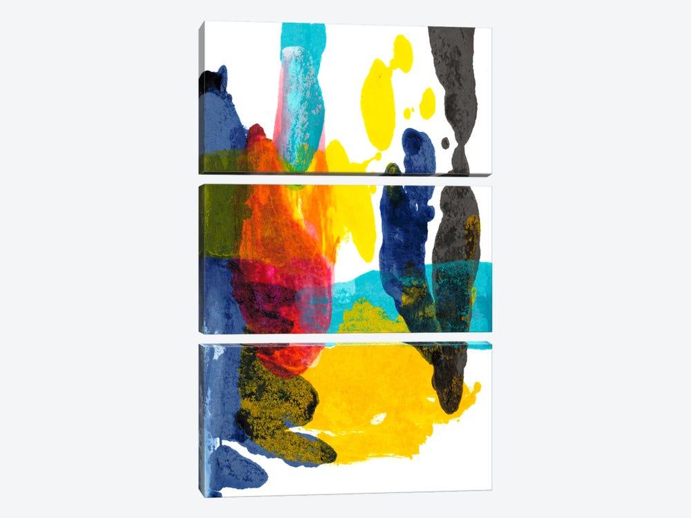Paint Bloom III by Jodi Fuchs 3-piece Canvas Wall Art