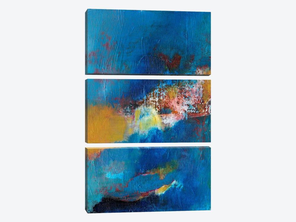 Rhapsody In Blue I by Jodi Fuchs 3-piece Canvas Artwork
