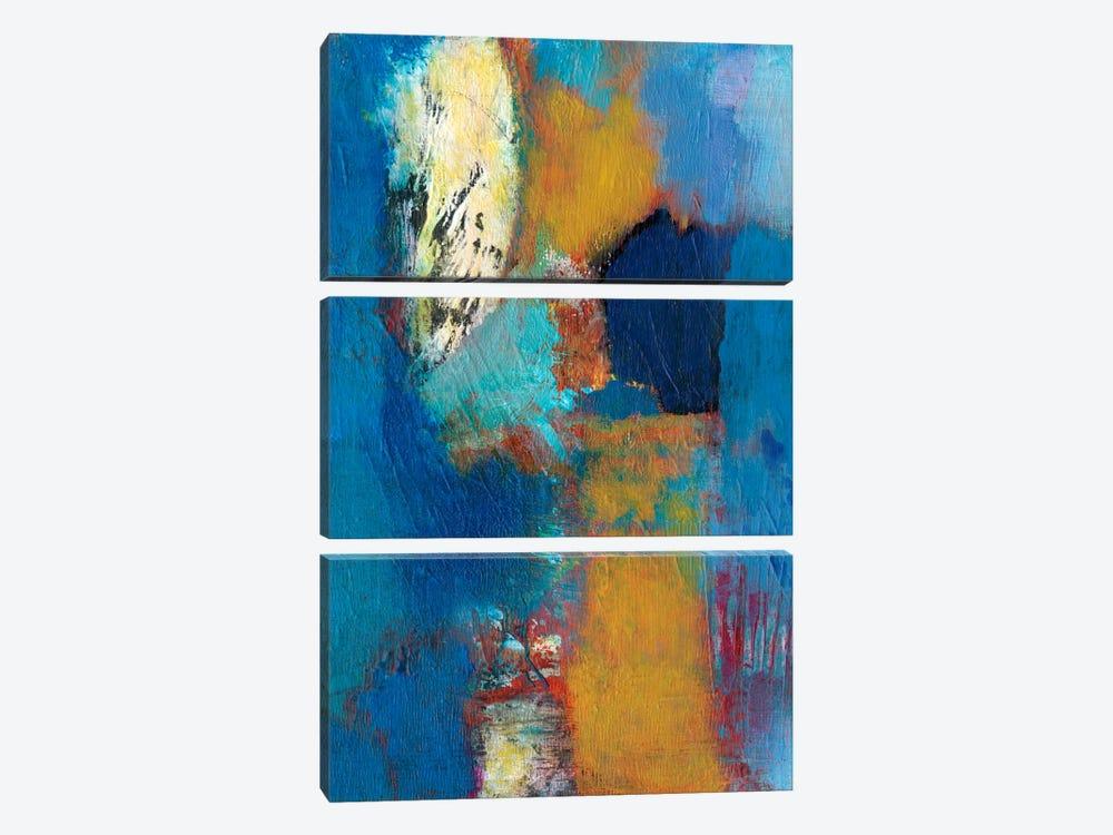Rhapsody In Blue II by Jodi Fuchs 3-piece Canvas Print