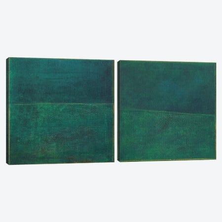 Green Zen Diptych Canvas Print Set #JFU2HSET001} by Jodi Fuchs Canvas Wall Art