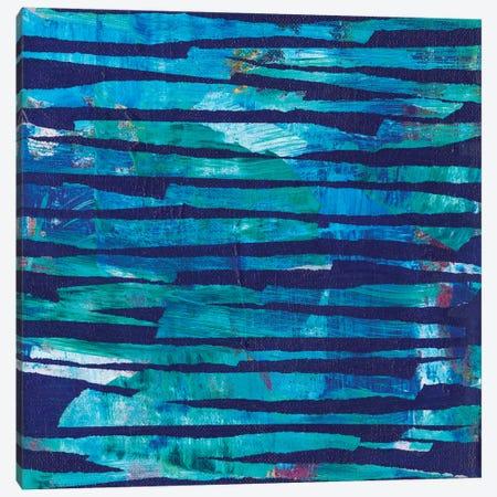 Torn Indigo I Canvas Print #JFU37} by Jodi Fuchs Art Print