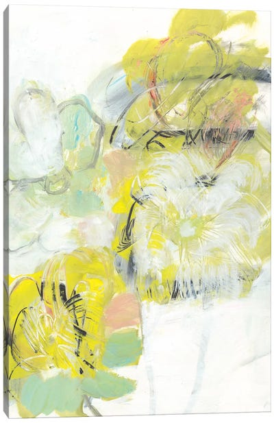 Yellow Floral Abstract I Canvas Art Print
