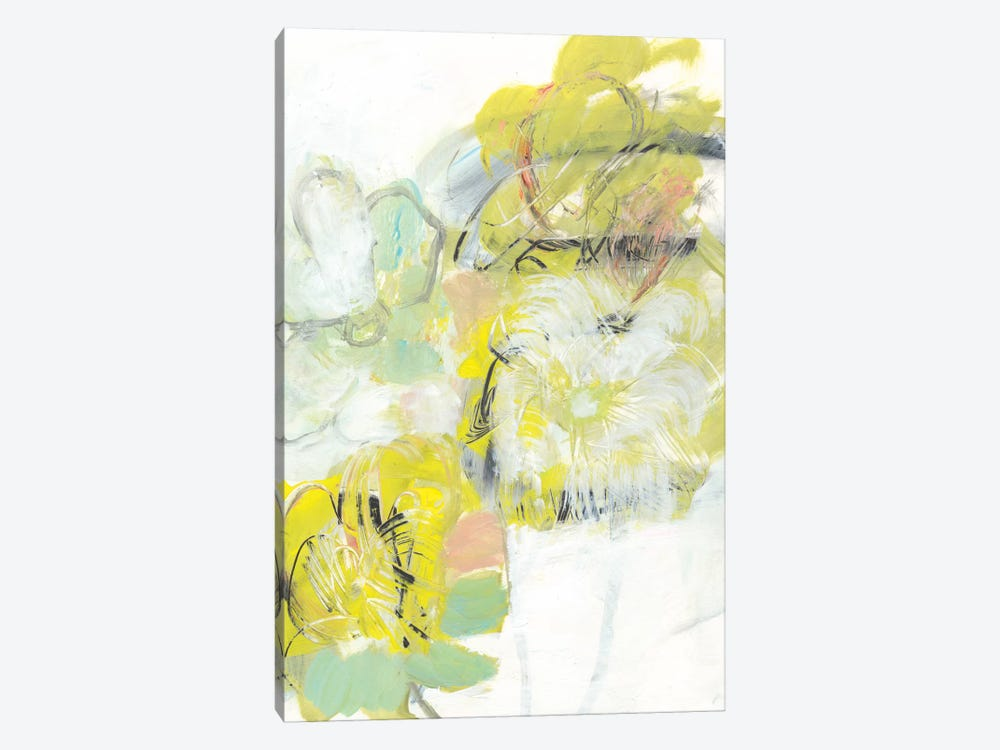Yellow Floral Abstract I by Jodi Fuchs 1-piece Canvas Wall Art