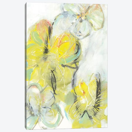 Yellow Floral Abstract II Canvas Print #JFU40} by Jodi Fuchs Art Print