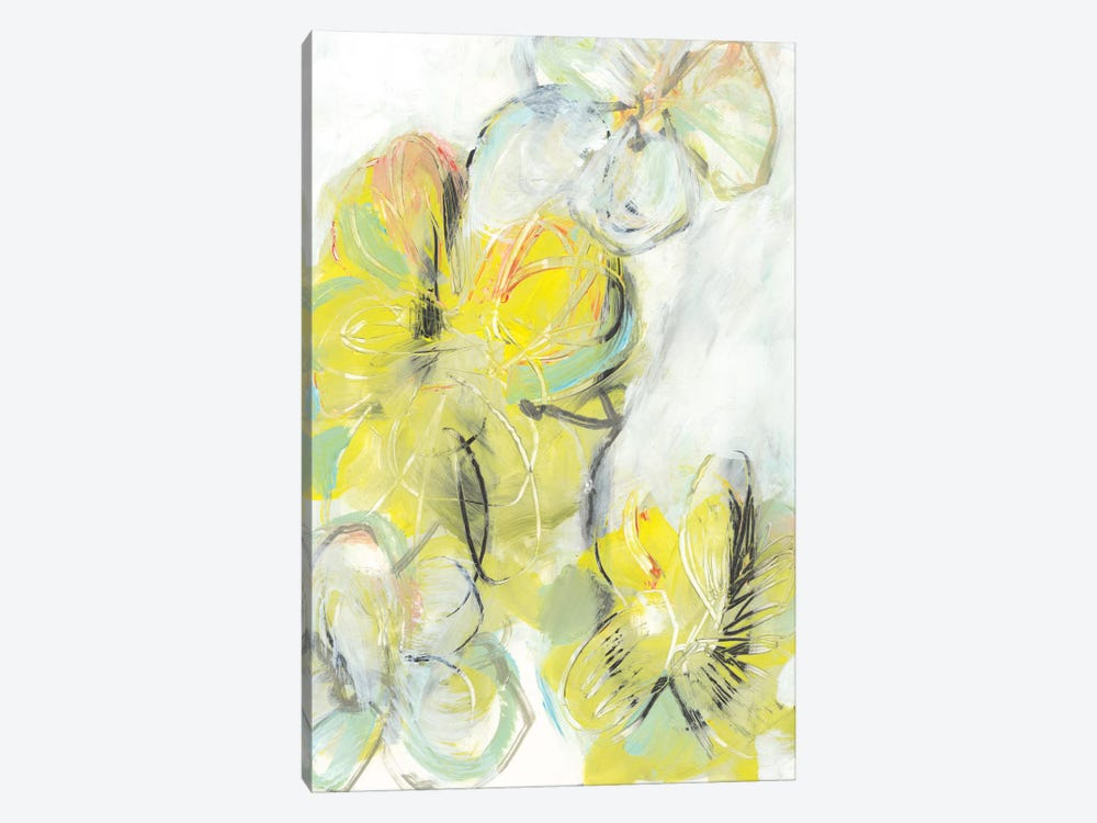 Yellow Floral Abstract II by Jodi Fuchs 1-piece Canvas Art