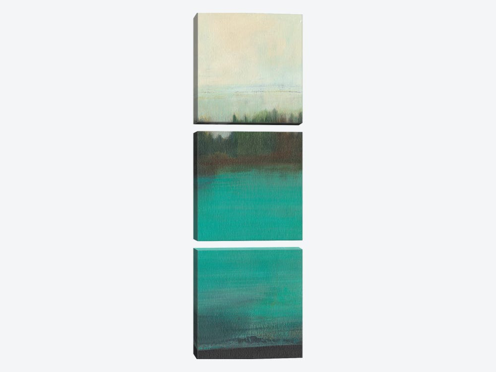 Teal Lake View I by Jodi Fuchs 3-piece Canvas Wall Art
