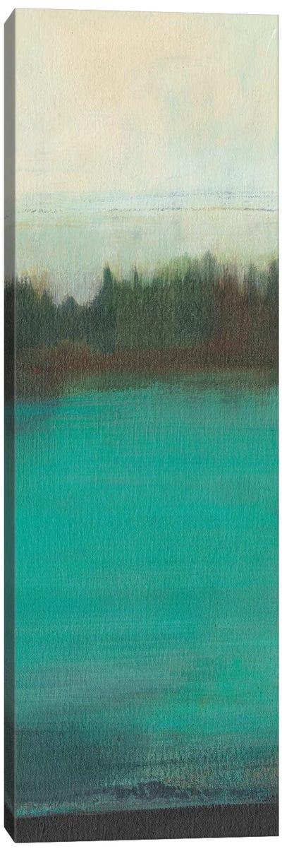 Teal Lake View I Canvas Art Print