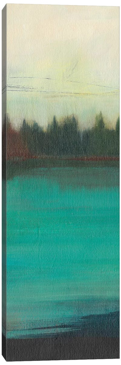 Teal Lake View II Canvas Art Print