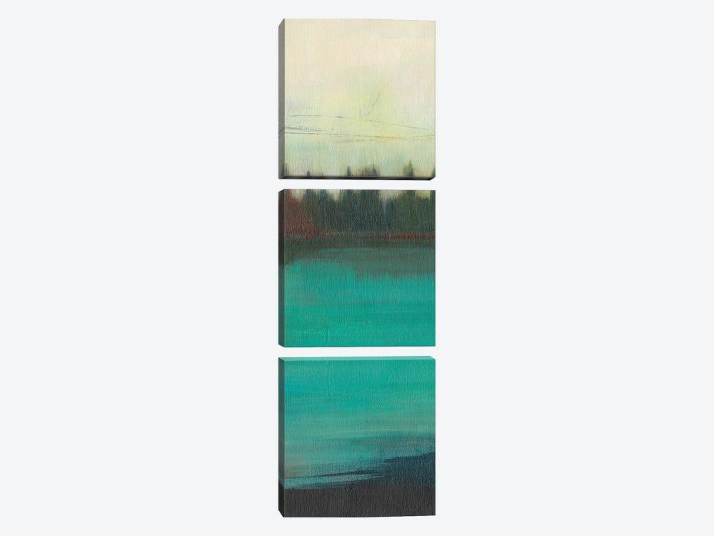 Teal Lake View II by Jodi Fuchs 3-piece Canvas Print